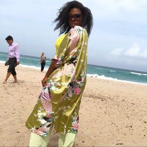 Other - 100% Silk Kimono Duster Robe!